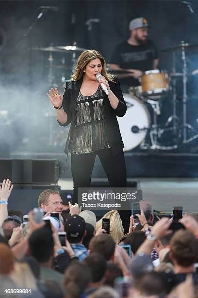 Hillary Scott of Lady Antebellum performs onstage during the Capital One JamFest at the NCAA March Madness Music Festival Ð Day 3 at White River...
