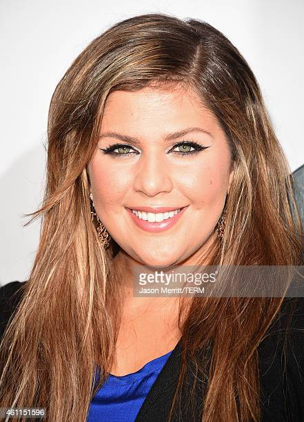 Hillary Scott of music group Lady Antebellum poses in the press room at The 41st Annual People's Choice Awards at Nokia Theatre LA Live on January 7...
