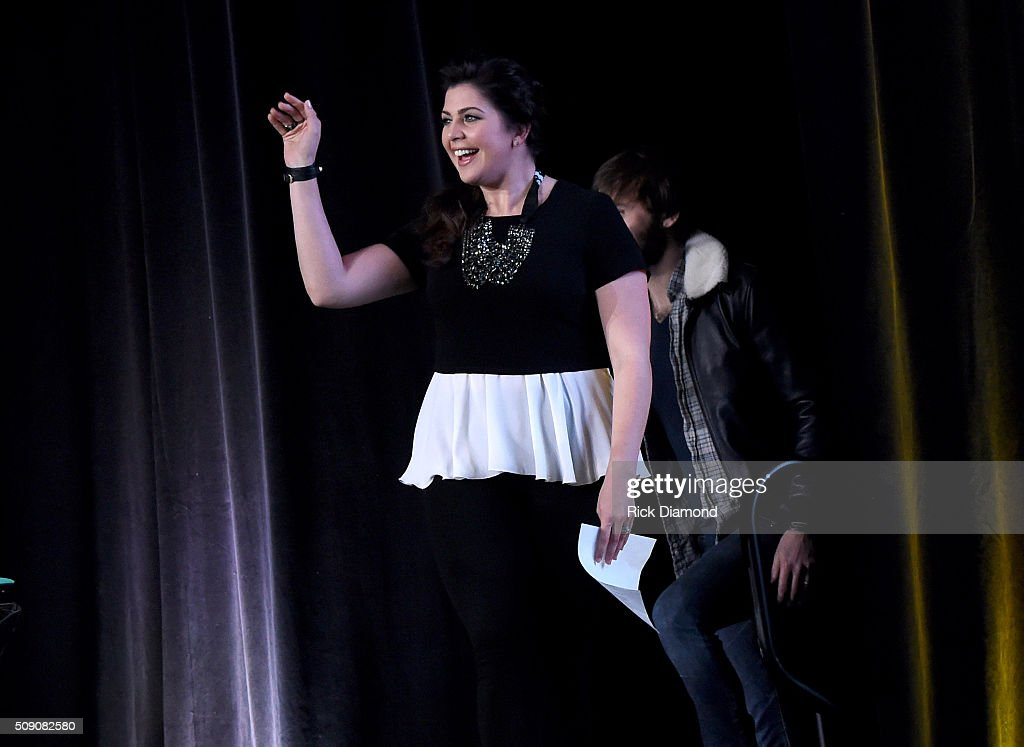 Hillary Scott speaks onstage during the CRS 2016 at Omni Hotel on February 8, 2016 in Nashville, Tennessee.
