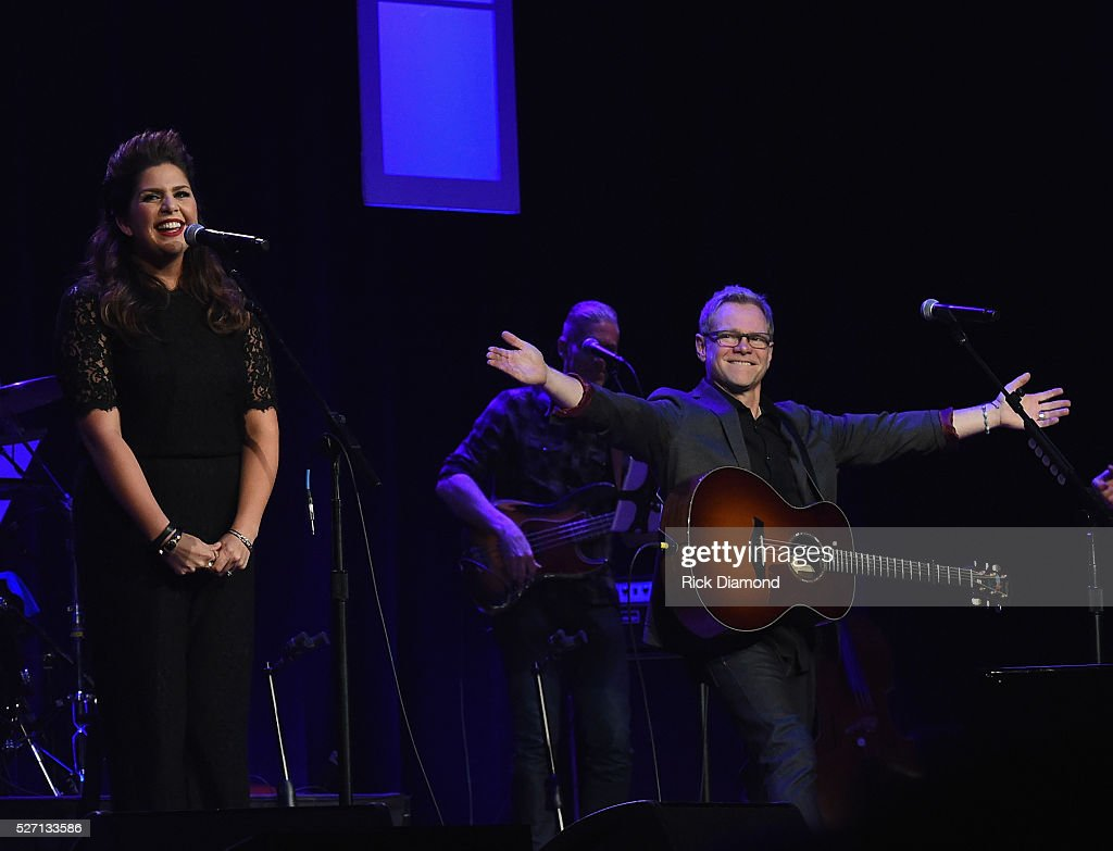 Hillary Scott & The Scott Family are joined by Steven Curtis Chapman during Sam's Place - Music For The Spirit - May 1, 2016 at Ryman Auditorium in Nashville, Tennessee.