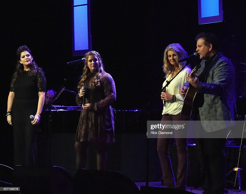 Hillary Scott, Rylee Scott, Linda Davis and Lang Scott perform during Sam's Place - Music For The Spirit - May 1, 2016 at Ryman Auditorium in Nashville, Tennessee.