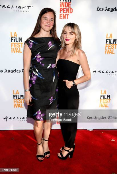 Hillary Spera and Addison Timlin attend the screening of 'Submission' during the 2017 Los Angeles Film Festival at Arclight Cinemas Culver City on...