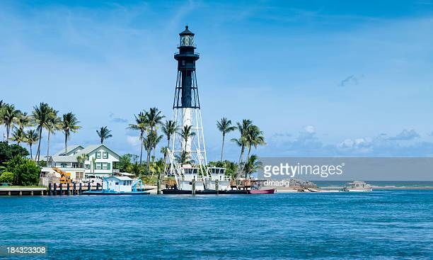Hillsboro Inlet Lighthouse - Octagonal Iron Pyramid-shaped Tower