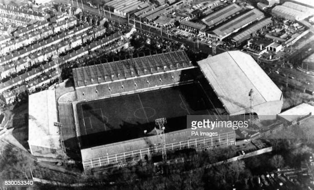 Hillsborough football stadium where overcrowding crushed many people during an FA Cup semifinal football match between Liverpool and Nottingham...