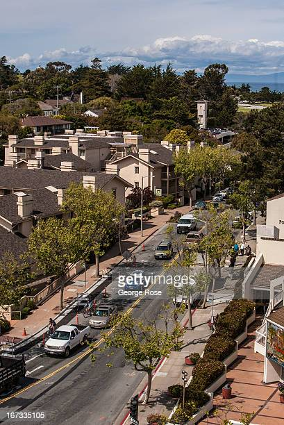 Hillside homes and hotels along Pacific Avenue are viewed on April 6 in Monterey California Some 136 million international travelers visit the State...