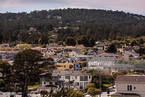 Hillside homes and hotels near Pacific Avenue are viewed on April 6 in Monterey California Some 136 million international travelers visit the State...