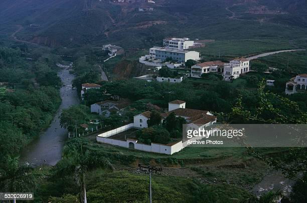 Hillside homes outside Cali Colombia South America circa 1965