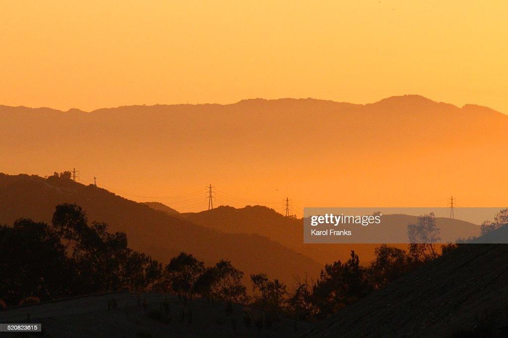 hillside sunset