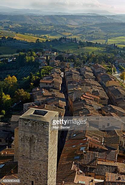 Hillside town of San Gimignano in Tuscany