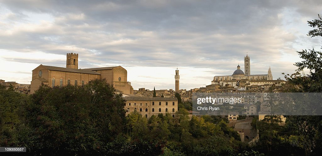 Hilltop town, Siena, Tuscany, Italy : Stock Photo