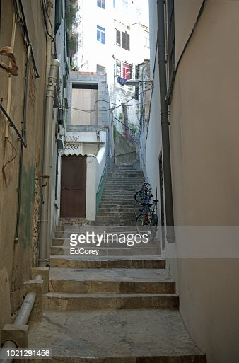 Hilly Alley in Gibraltar : Foto stock