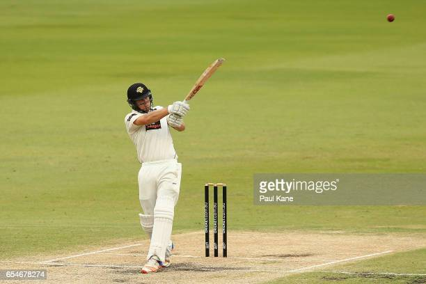 Hilton Cartwright of Western Australia bats during the Sheffield Shield match between Western Australia and New South Wales at WACA on March 18 2017...