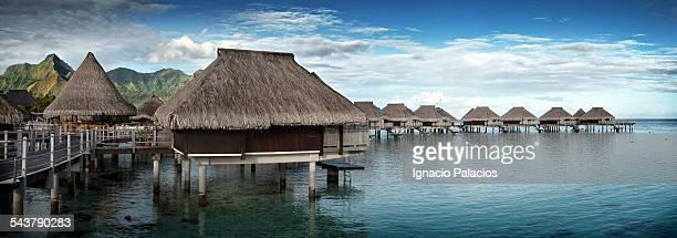 Hilton resort, bungalows, Tahiti