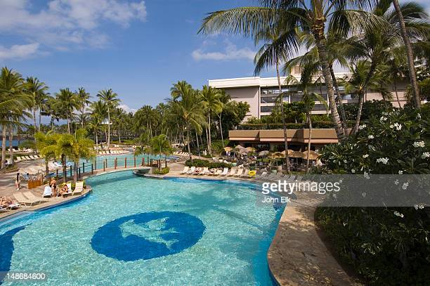 Waikoloa stock photos and pictures getty images - Hilton swimming pool ...