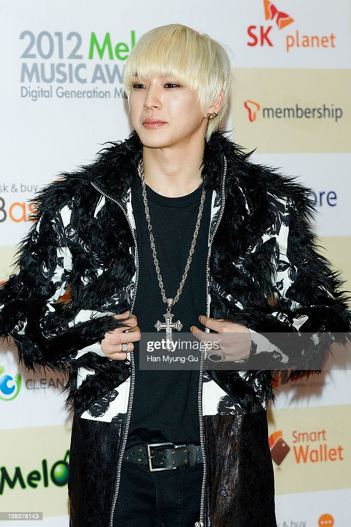 Him Chan of South Korean boy band B.A.P arrives at the 2012 Melon Music Awards at Olympic Gymnasium on December 14, 2012 in Seoul, South Korea.