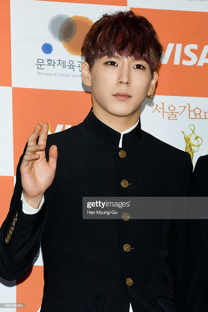Him Chan of South Korean boy band B.A.P attends the 22nd High1 Seoul Music Awards at SK Handball Arena on January 31, 2013 in Seoul, South Korea.
