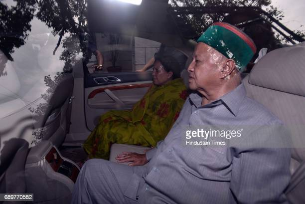Himachal Pradesh Chief Minister Virbhadra Singh appears at Patiala Court on May 29 2017 in New Delhi India Himachal Pradesh Chief Minister Virbhadra...