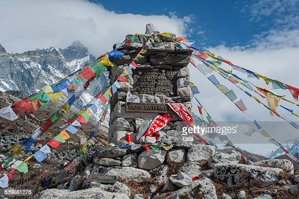 Himalaya, Chukung Valley, Mt Lhotse, Memorial in mountains