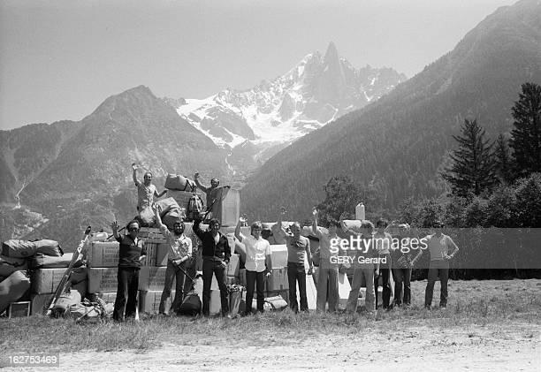First French Expedition To Climb The Everest Au Népal en juillet 1978 Pierre MAZEAUD ancien ministre des sports part à la conquête de l'Everest à la...