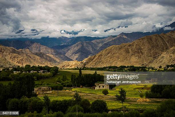 Himalaya landscape mountain view background in Leh india