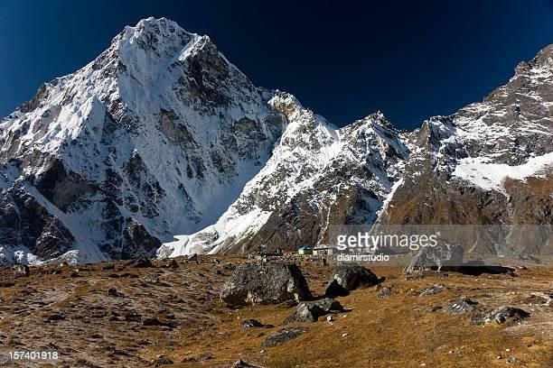 Himalaya Nepal Arkam Tse (6335 m) desde Dzonghla. Grandes detalles.
