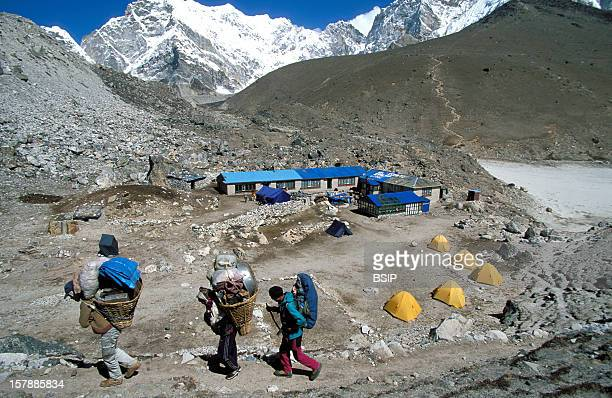Himalaya Nepal Himalaya NepalSherpa Region Of Solu Khumbu Region Of The Everest Located On The Himalayan Mountain Range At The East Of...
