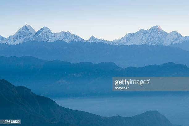 Himalayan mountains dawn