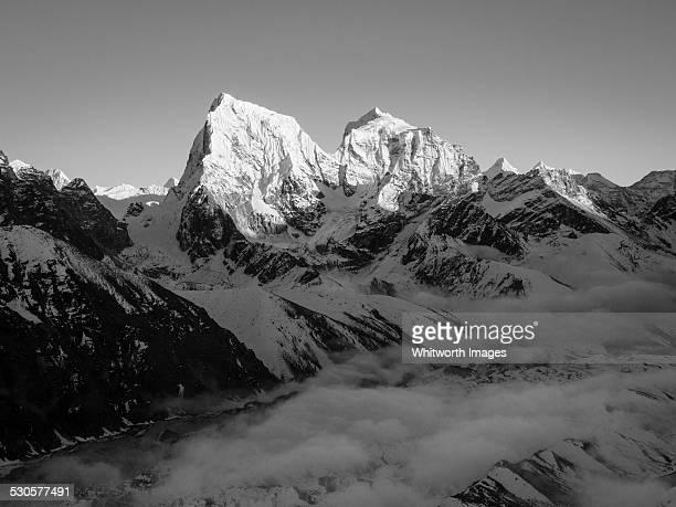 Himalayan peaks Cholatse and Tabuche at dusk Nepal