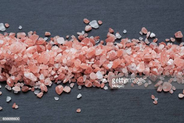 Himalayan Pink Salt on Black Stone Plate