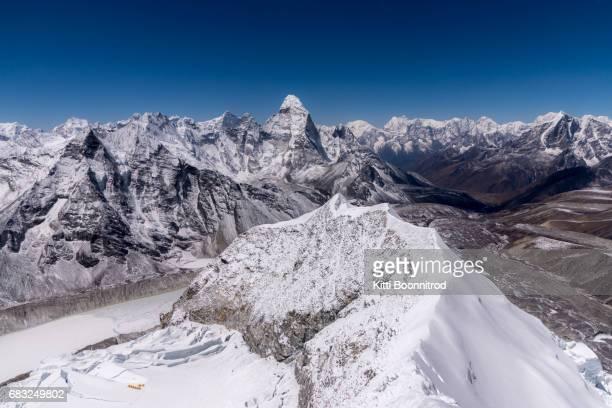 ็Himalayan range from the summit of Island peak, Nepal