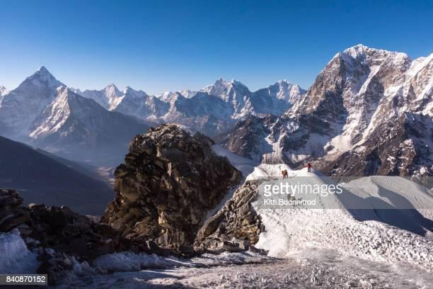 Himalayan range from the way to Lobuche east, Nepal