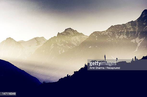 Himalayas in  morning