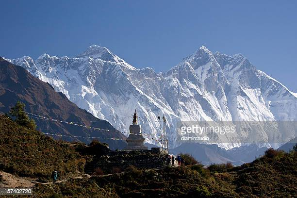 Himalayas Nepal. Everest and Lhotse. Trekking. Great details!