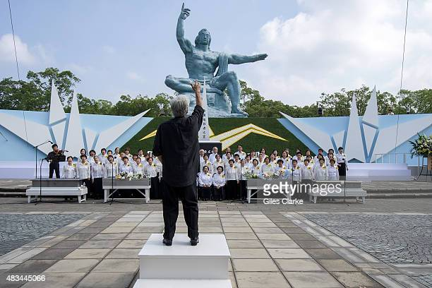 Himawari or The Sunflower Choir sing 'Love Song for Peace' to open the official 70th Anniversary commemoration in Nagasaki Peace Park There will be a...
