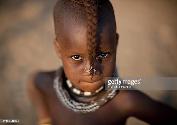 Himba Twin Girl Called Kaveunanga in Okapale Area Namibia on August 18 2010