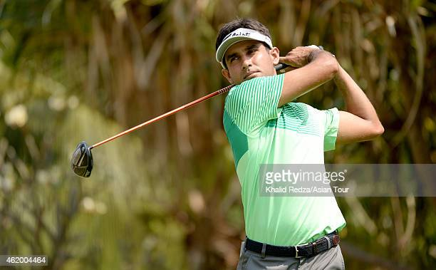 Himmat Rai of India in action during round three of the Asian Tour Qualifying School presented by Sports Authority of Thailand at the Springfield...