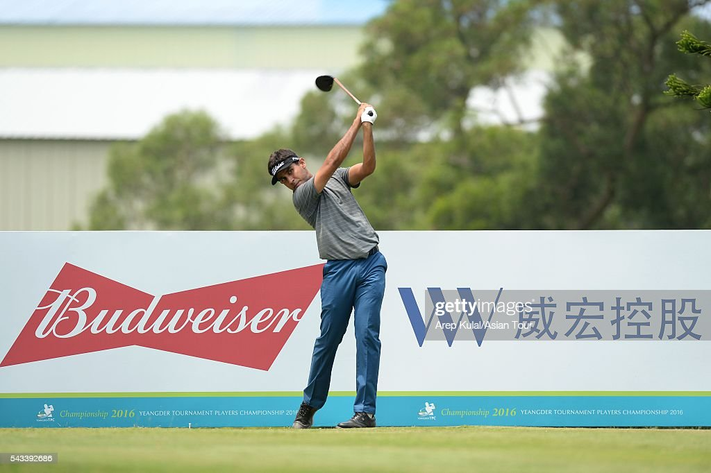 Himmat Rai of India pictured during the practise round ahead of the Yeangder Tournament Players Championship at Linkou International Golf Club on June 28, 2016 in Taipei, Taiwan.