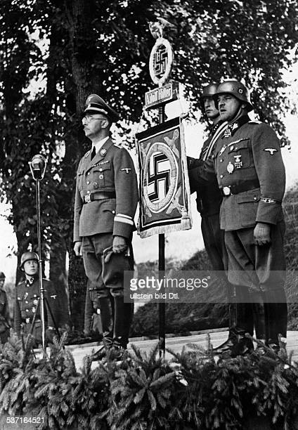 Himmler Heinrich Politician Nazi Party Germany Himmler at the base of the SS 'Leibstandarte Adolf Hitler' in Metz during a handing over ceremony of a...