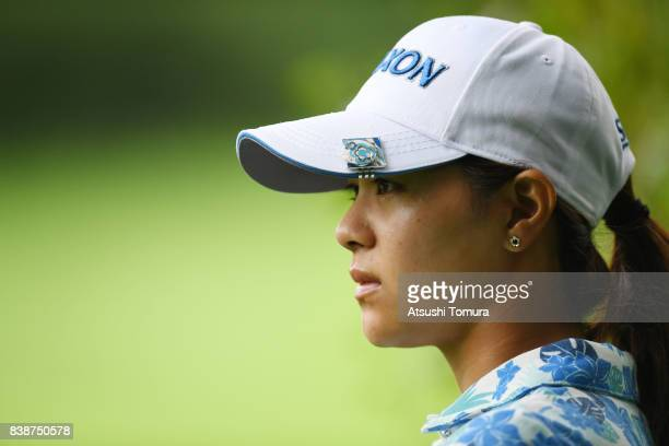Hina Arakaki of Japan looks on during the second round of the Nitori Ladies 2017 at the Otaru Country Club on August 25 2017 in Otaru Hokkaido Japan