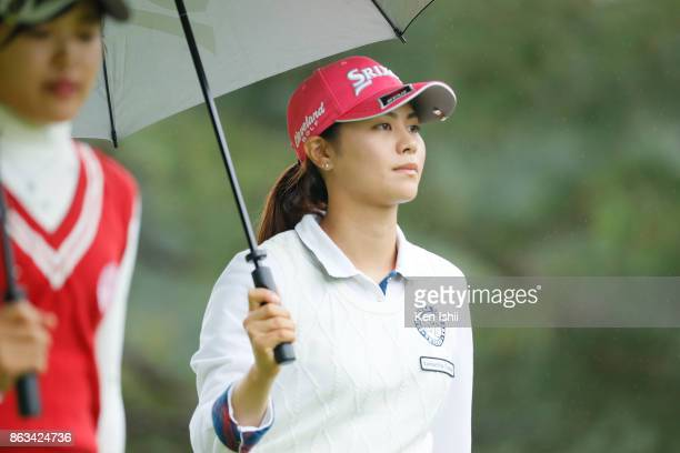 Hina Arakaki of Japan walks down on the 11th hole during the final round of the Kyoto Ladies Open at the Joyo Country Club on October 20 2017 in Joyo...