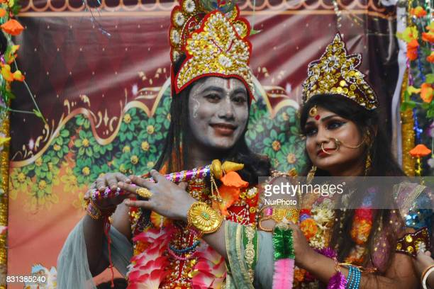 Hindu community is celebrating Janmastami to mark the birth of Hindu God Lord Krisna in Dhaka Bangladesh on Monday August 08 2017 Janmasthami is...