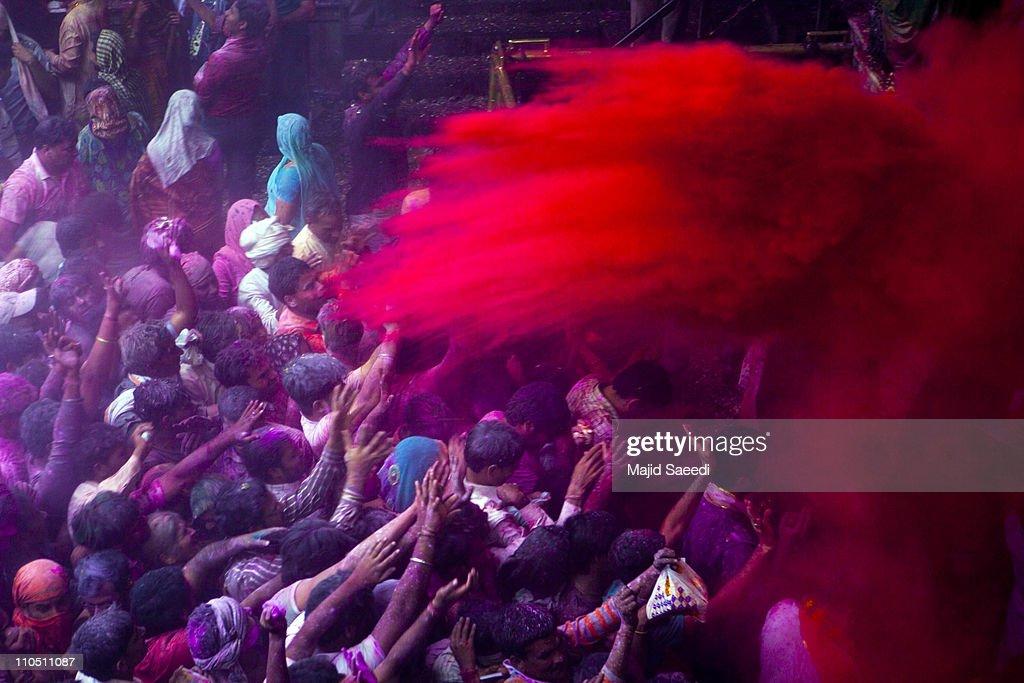 "Holi, the ""festival of colours"" in India."