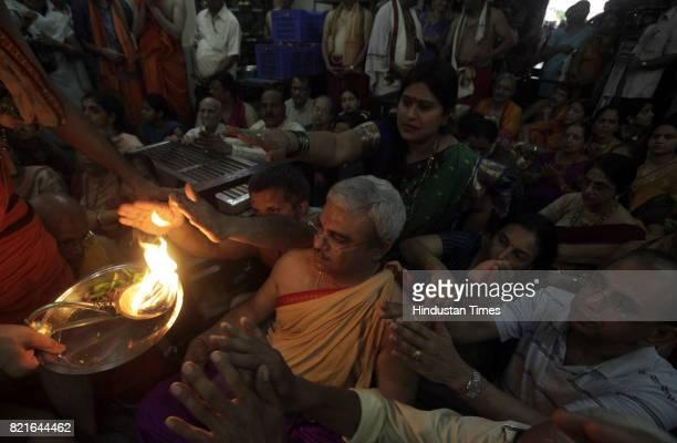 Hindu Devotes celebrate Ram Navmi at Wadala Ram Mandir in Mumbai