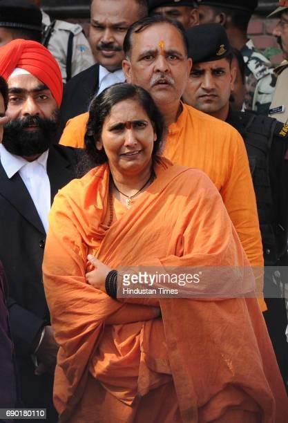 Hindu political activist and social worker Sadhvi Ritambhara after getting bail in Ayodhya Ram MandirBabri Masjid Demolition case at CBI court on May...