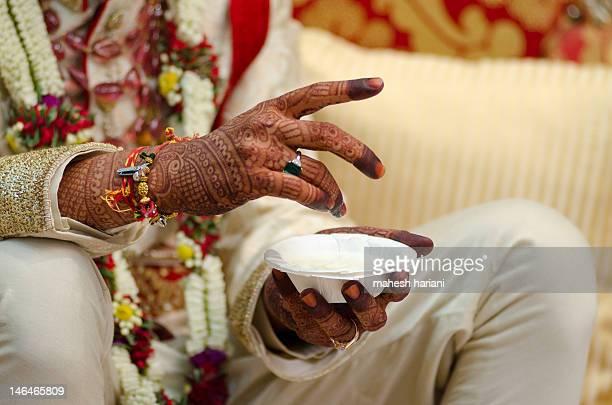 Hindu religious wedding ceremony,India