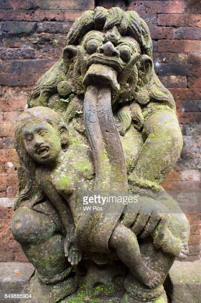 Hindu sculture in Holy Monkey Forest Ubud Bali