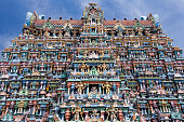 Minakshi Sundareshvera Hindu Temple in the city of Madurai in the Tamil Nadu region of India.