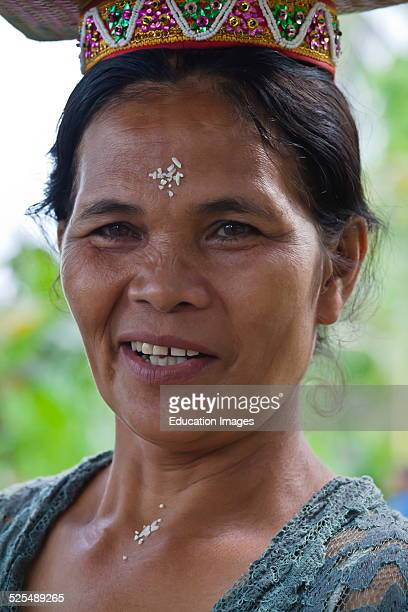 Hindu Woman Carry Offerings Balanced On Their Heads During The Anniversary Ceremony Of Pura Prajapati Near Ubud Bentuyung Sakti Bali