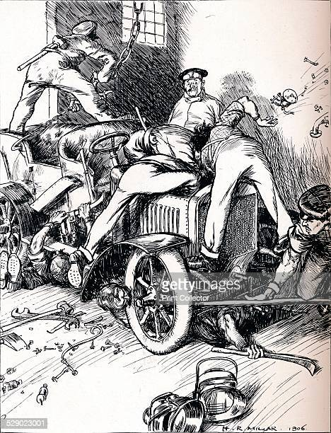 Hints To Motorists 1906 After a cartoon by Harold Robert Millar From The Tatler Volume 21 [The Tatler London 1906]
