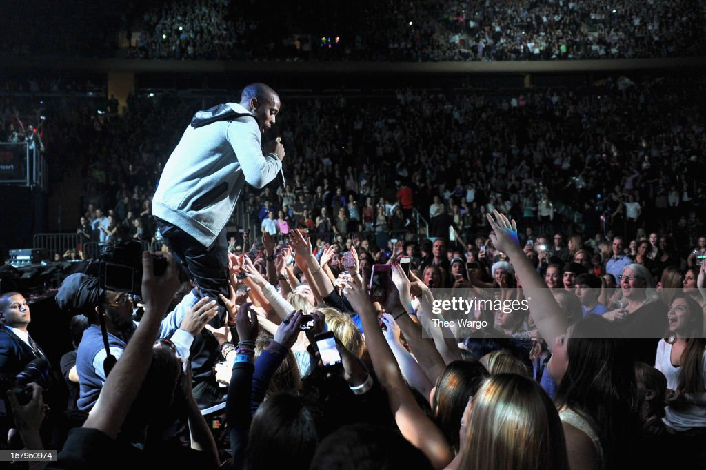 Hip Hop artist B.o.B performs onstage during Z100's Jingle Ball 2012, presented by Aeropostale, at Madison Square Garden on December 7, 2012 in New York City.